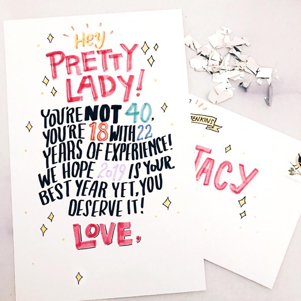 682027eaebd590af5f959cc61bd09f95 40 Birthday Card Punkpost Handwritten 10