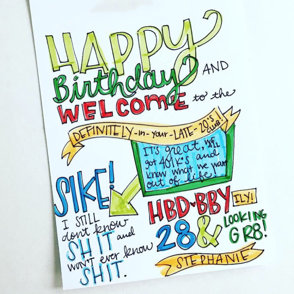 9de19307c04129091fa7098d18d696f1 Funny Birthday Card Punkpost Handwritten 5